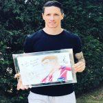Captain Tsubasa artist Yoichi Takahashi gift for Fernando Torres.