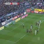 Monchengladbach 1-0 Leverkusen - Jonas Hofmann penalty 55' (+ call)