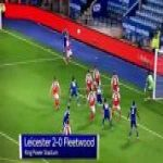 Leicester City [2]-0 Fleetwood Town — Vicente Iborra 39'