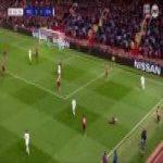 Pogba losing his footing vs Valencia