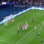 Neymar freekick goal (PSG [1]-0 Crvena Zvezda) 19'