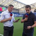 Carragher and Neville Have an Impromptu Footrace While Preparing for Tonight's Brighton/West Ham Match
