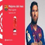 Lionel Messi wins La Liga's Player of the Month Award for September 2018