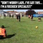 The strangest freekick routine I've ever seen 😂😂