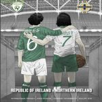 The Match programme for tonight's Ireland v Northern Ireland game pays homage to two of the games greats