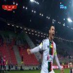 GKS Tychy [4]:0 GKS Katowice - Łukasz Grzeszczyk 60' (free kick, Polish 2nd tier)