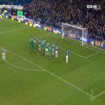Everton [2]-2 Watford - Lucas Digne free-kick 90'+6'