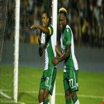 Nani does a little celebratory dance after scoring as Sporting down Loures 2-1