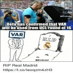 VAR will be used from UCL RO16 onward