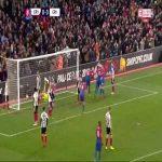 Crystal Palace [1]:0 Grimsby Town - Jordan Ayew 87'