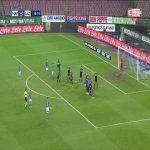 Napoli [2]:0 Lazio - Arkadiusz Milik 37' (free kick)
