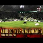 'Sound of silence' played at a Polish Ekstraklasa match (Lechia vs. Pogoń) in memory of Paweł Adamowicz, the president of Gdańsk who was murdered a month ago.