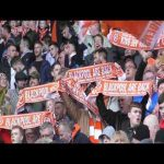 After over 4 years of boycotting the Oyston's, this was the atmosphere at Blackpool in their first home game under new owners