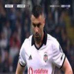Besiktas [2]-1 Konyaspor - Burak Yilmaz free-kick 33'
