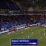 Bolton 0-1 Sheffield Wednesday - Steven Fletcher 44'