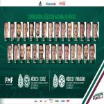 Mexico's squad list for the friendly matches against Chile and Paraguay