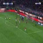 Danilo D'Ambrosio (Inter) goal saving clearance against Milan 90'+6'