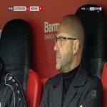 Leverkusen [1]-2 Bremen - Leon Bailey free-kick 75'