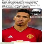 Smalling has identified Messi's weakness!! 😮