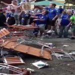 Chelsea fans destroy mans pub