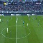 Jordan Lefort (Amiens) straight red card against Saint-Etienne 29'
