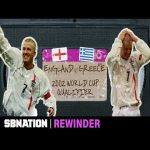 David Beckham's last-second free kick against Greece recieves a deep rewind
