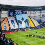 Minnesota United FC's tifo for the first ever game in their brand new stadium