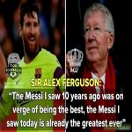 Sir Alex Ferguson On Lionel Messi!😱🐐🔥