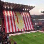 Huge tifo by Standard Liège supporters vs. KRC Genk