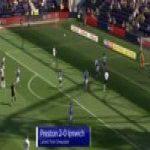 Preston 2-0 Ipswich - Callum Robinson 23'