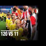 120 kids vs 11 Feyenoorders