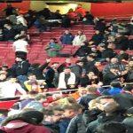 Valencia fans at Arsenal