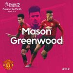 Mason Greenwood wins PL2 Player of the Month