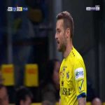 Nicola Rigoni (Chievo) second yellow card against Inter 76'