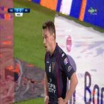Piotr Parzyszek (Piast Gliwice) hits the crossbar vs. Pogoń Szczecin (41', Polish Ekstraklasa)