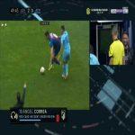 Angel Correa (Atlético Madrid) straight red card against Levante 49'