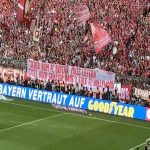 Bayern fans banner in support of Kovac