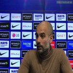 """Reporter: """"Tomorrow you've got the prospect of winning the first ever domestic treble in this country. How much does that excite you?""""  Pep Guardiola: """"The first time in men's football. The women have done it.""""   Badass response 🔥"""