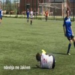 Kosovo Women Football - Manager instructs player to break opposing player's legs.