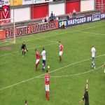 In a Dutch amateur game, a goal was given after the referee deflected the ball into the net