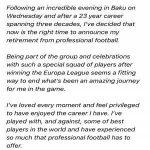 Rob Green announces his retirement