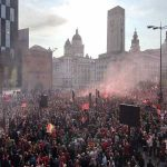 [Dan Roan] - Merseyside police say more than three-quarters of a million people lined the streets of Liverpool for the LFC victory parade today