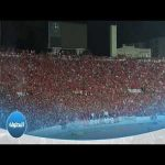 Crowd reaction to a former player scoring against them ( Wydad Casablanca )