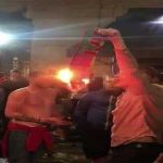 England fan filmed burning Portugal scarf...in Portugal
