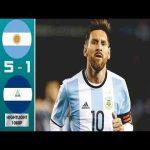 Argentina vs Nicaragua 5-1 highlights
