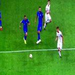 Nicolò Barella accidentally kicks the ball at a ballboy's head