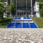 HSV ultras repainted the stairs in front of the stadium