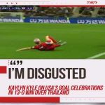 Kaylyn Kyle on the USA's goal celebrations on TSN: I'm pretty disgusted