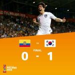South Korea has qualified to the final of the U20 World Cup