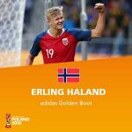 Erling Braut Haaland wins the U20 World Cup Golden Boot